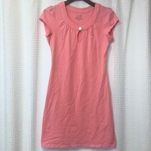 Vineyard Vines Pink Cap Sleeve Keyhole Front Dress